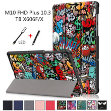 "Case For Lenovo Tab M10 FHD Plus 10.3 TB-X606F TB-X606X 10.3"" Smart Cover Funda Ultra Slim Magnetic Folding Skin Stand Shell+Pen(China)"