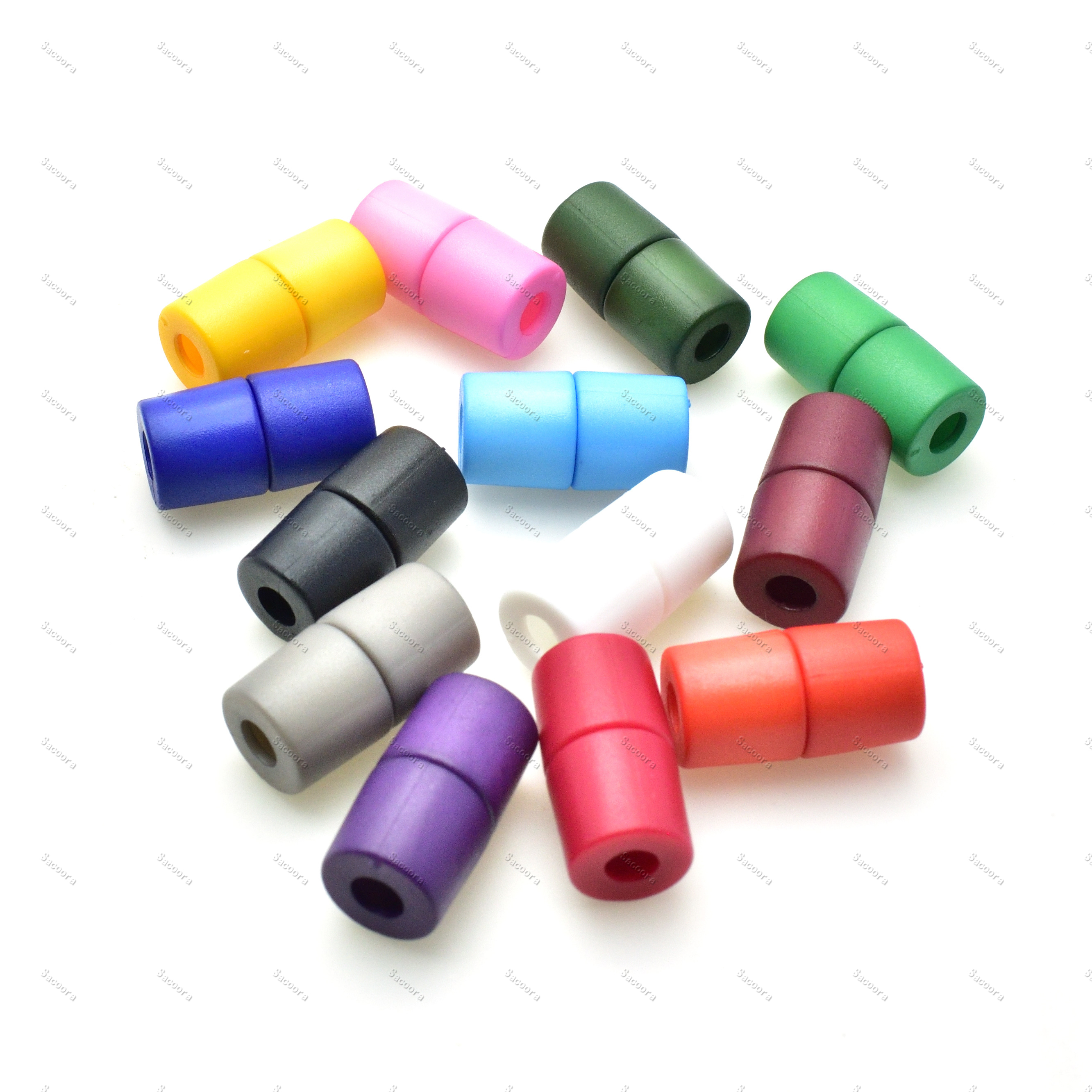 12pcs/pack Colorful Plastic Lanyard Safety Breakaway Pop Barrel Connectors For Bag/Pet Collars/Paracords/Necklace