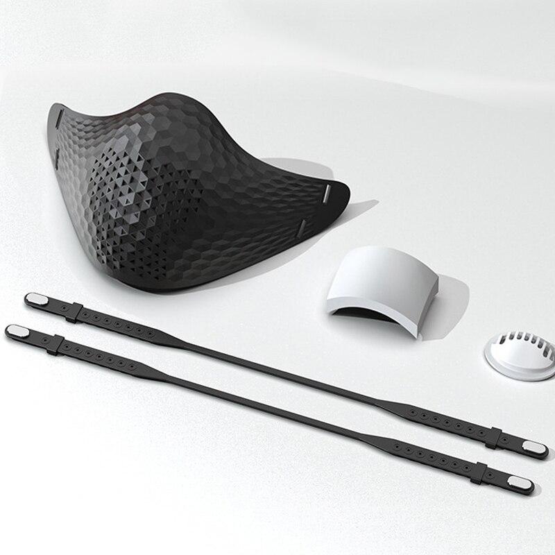 Silicon Dust Masks Face Mask Reusable Splashproof HEPA Filter Anti-fog Mouth Mask Respirator