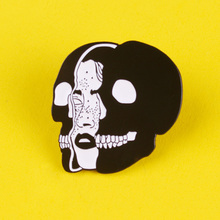 Skull Skeleton Enamel Pins Dark Punk Brooches On a Backpack Badge For Jeans Jacket Metal Badges Lapel Pin Bags Jewelry Gifts sp044 viking rune hard enamel pins and brooches women men lapel pin backpack bags cartoon anime badges gifts punk jewelry