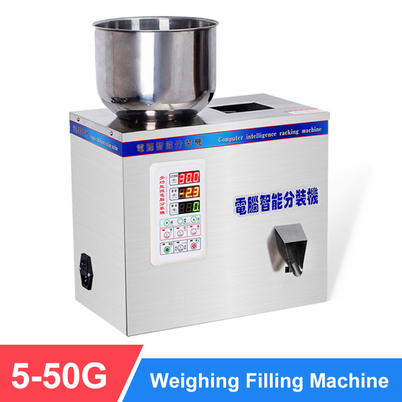 YTK 50G Weighing Filling Machine Tea Leaf Grain Medicine Seed Salt Rice Packing Machine Big Particle Filler