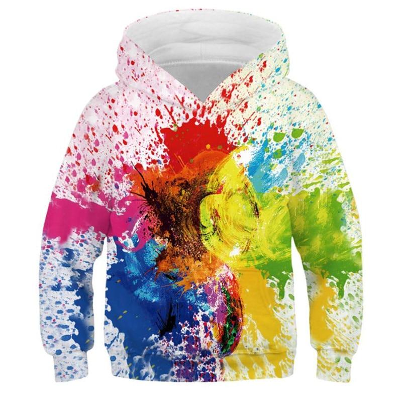 Abstract Art Hoodies for Teen Girls Boys Hip Hop Pullover Long Sleeve 3D Printed Hoodie Kids Clothes Children's Sweatshirt