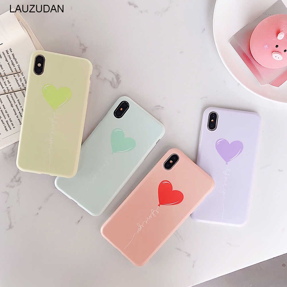 Phone Case For iPhone XR XS Max 6 6s 7 8 Plus X Case Heart Cute Candy Soft Silicon Back Cover For iPhone 7 8 XR 6 6s X  XS Case