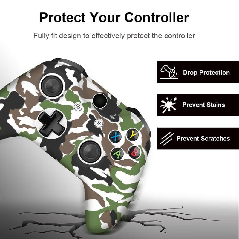 Für Xbox One X S Controller Gamepad Camo Silikonhülle Gummi - Spiele und Zubehör - Foto 3