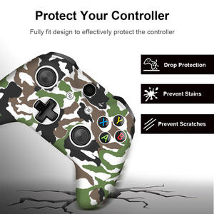 Image 3 - For Xbox One X S Controller Gamepad Camo Silicone Cover Rubber Skin Grip Case Protective For Xbox One Slim Joystick