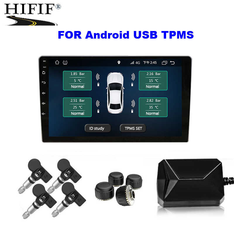 USB Android TPMS reifendruck monitor/Android navigation reifendruck überwachung alarm system/wireless übertragung TPMS