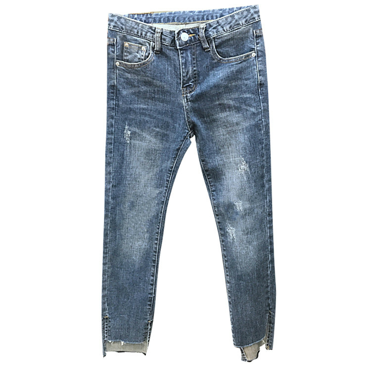 Women's Jeans Elastic Force High Waist Nine Part Leg Pants Girls Skinny Loose High Waist Stretch Ankle Length Slim Jeans