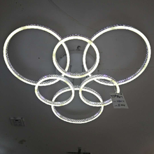 Modern LED Chandelier Lighting Living Room Bedroom White Bright Warm Soft Light Ceiling Lamp With Remote Control 220V