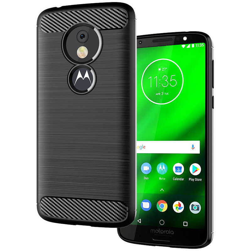 Luxe Carbon Fiber Case Voor Motorola Een Action Macro Vision Zoom Moto E4 E5 E6 G6 G7 G8 Play Plus power Z4 Z3 Z2 Kracht cover