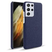 Voor Samsung Galaxy S21 Ultra Case Hoge Kwaliteit Fashion Case Stof Vilt Doek Matte Slim Back Cover Voor Galaxy S21 plus Case