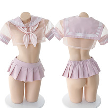日本のセクシーなランジェリー学生コスプレアニメ学校 JK 制服かわいい服セーラー女子高生衣装