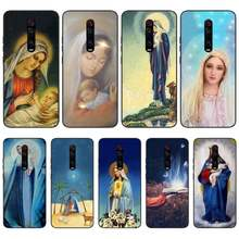 ByLoving Virgin Mary Christian Christmas Soft Silicone Black Phone Case For Redmi S2 5A 5 5Plus 6 6Pro 6A 4X 4X 7 7A Cover(China)