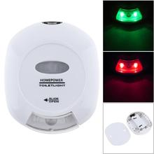 LED Energy efficient Bathroom Toilet Light Supplier With Red Green Light White Color Light Powered by 2 x AA battery for Home стоимость