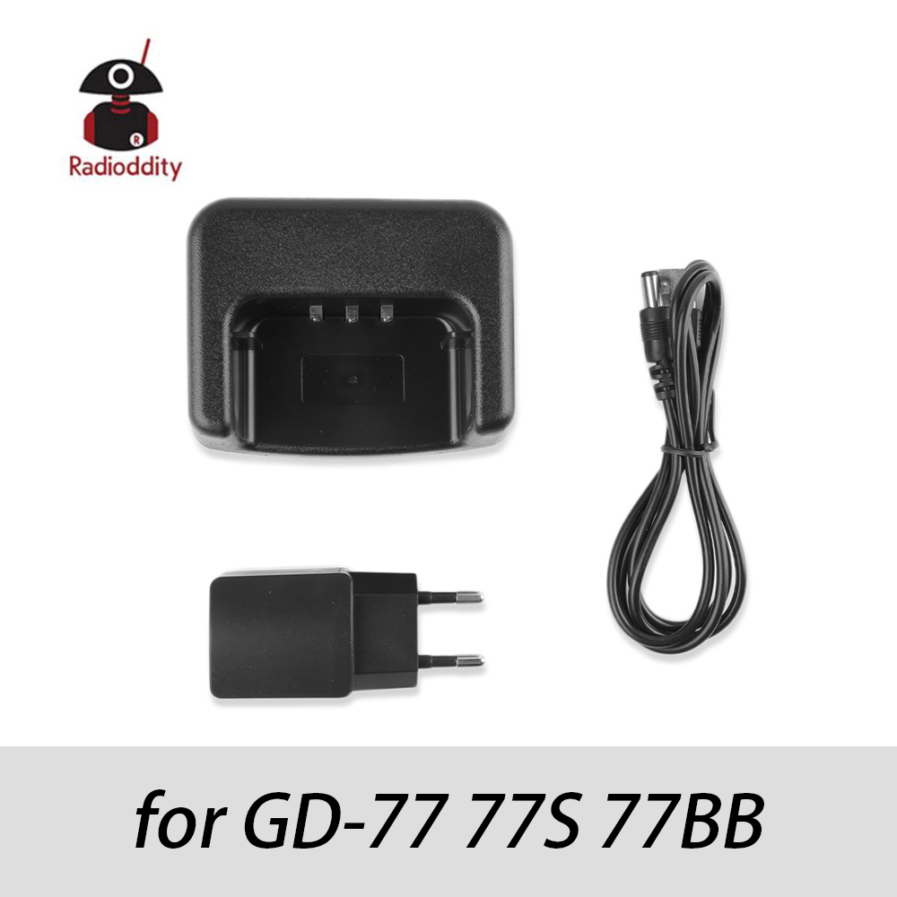Radioddity Desktop Charger For Radioddity GD-77 GD-77S GD-77BB Black EU/US Plug