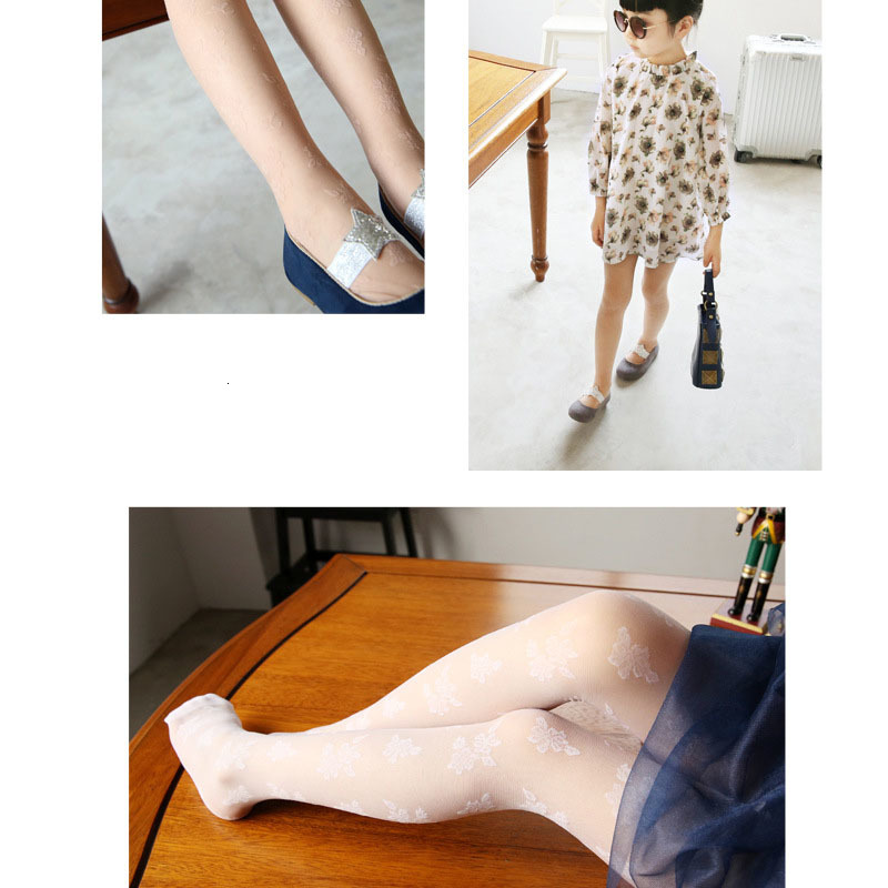 2019 Girl Pantyhose Children Summer Lace Tights Kids Spring Pantyhose Girls Underpant Dance For Kids Children Lace Collant Fille 4