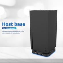 Oyun konsolu dikey stant montaj tutucu bankası XBOX serisi X aksesuarları mavi ışık Cradle raf ile 4 port USB 2.0 HUB