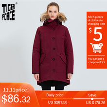 Winter Jacket Alaska Parka Women Tiger-Force Real-Fur-Hood Waterproof Padded Coat Thick