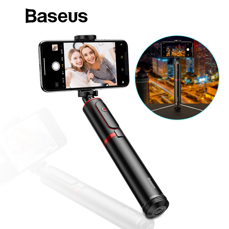 Baseus Wireless Bluetooth Selfie Stick With Extendable Monopod Remote Selfie Sticks Tripod For IPhone Oneplus Huawei Palo Selfie
