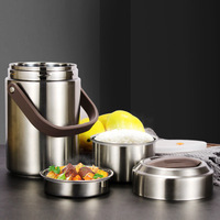 Stainless Steel Insulation Barrel Super Long Insulation Lunch Box 3 Multi layer Large Capacity Adult Student Bento Box Lunch Bar