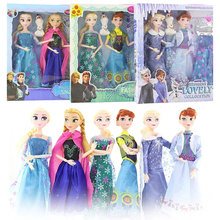 2pcs Disney Frozen 2 Doll Dress Anna Elsa Frozen Snow Queen Princess Dolls Casual Wear Cloth Outfits Accessories Toy for Girl