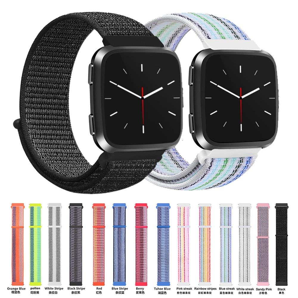 Nlyon Strap For Fitbit Versa 2 Lite Soft Nylon Replacement Wristband For Fitbit Versa Lite Band Edition Smart Watch Accessories