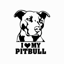 Car Sticker Creative I LOVE MY PITBULL Cartoon Dog Exterior Accssories Vinyl Decals for BMW VW Audi Gti Skoda,12cm*9.8cm недорого