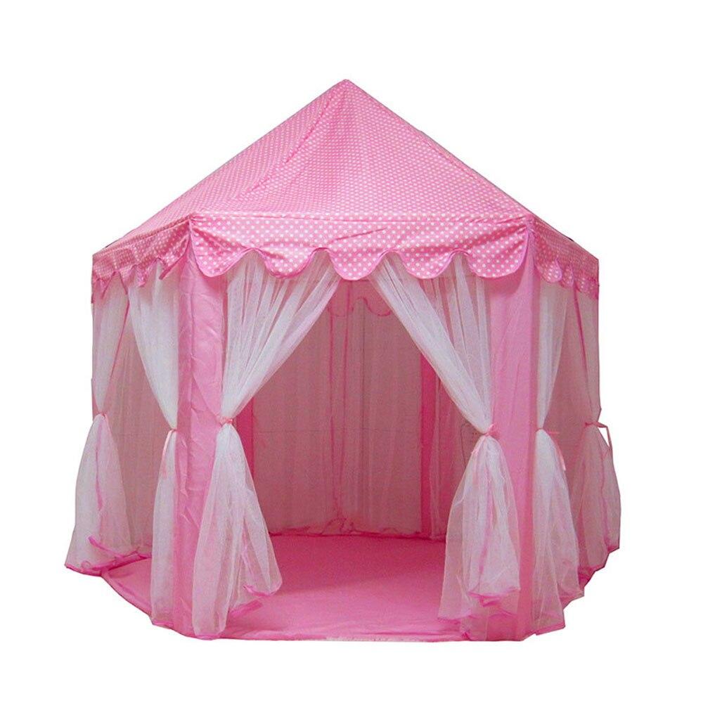 Princesse château jouer maison grand extérieur enfants jouer tente pour les filles rose fête tente mobilier d'extérieur