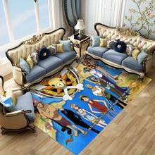 Jeden kawałek Home Decor dywan poliestrowy Luffy drukuj łazienka dywaniki kuchenne Anime przedpokój dywaniki niestandardowe dywaniki do sypialni tanie tanio Japan style Maszyna wykonana Prostokąt Domu Hotel Bedroom Dekoracyjne Łazienka Kilim Pranie ręczne Mechanicznej wash