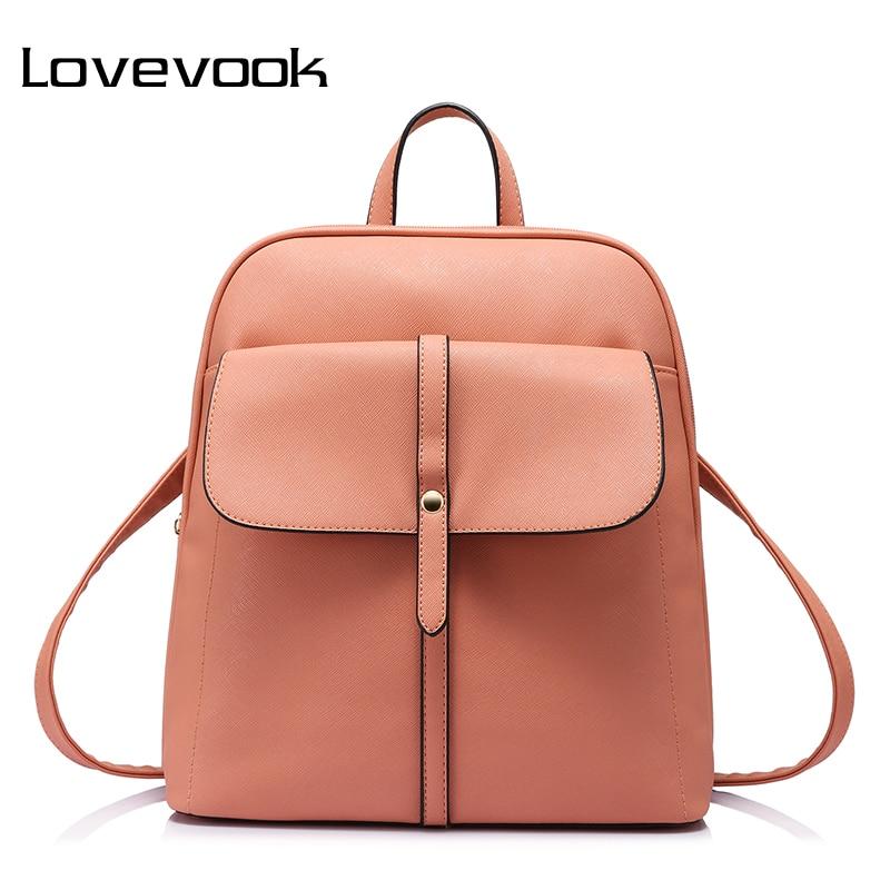 LOVEVOOK Brand Fashion Women Backpacks For Teenage Girls High Quality Shoulder Bag Female Zipper School Bags Preppy Style 2019