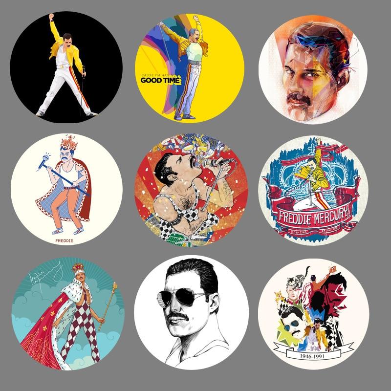 1 шт. с группой Queen музыкальный значок из крафт-бумаги Металлические Значки для рюкзака Фредди Меркурий винтажные Декоративные значки сделай сам для женщин классные аксессуары