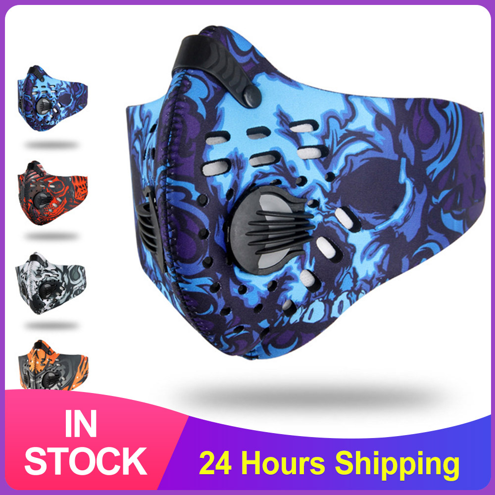 2020 Cycling Face Mask Activated Carbon Dust-Proof  Anti Pollution Masks Bicycle Bike Outdoor Sport Breathing Face Mask Unisex