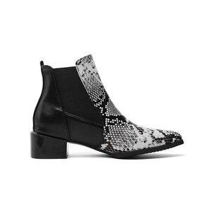 Image 3 - MORAZORA 2020 ใหม่มาถึงผู้หญิงข้อเท้างูชี้ Toe รองเท้าส้นสูงรองเท้าฤดูใบไม้ร่วงฤดูหนาวรองเท้าเชลซีหญิง