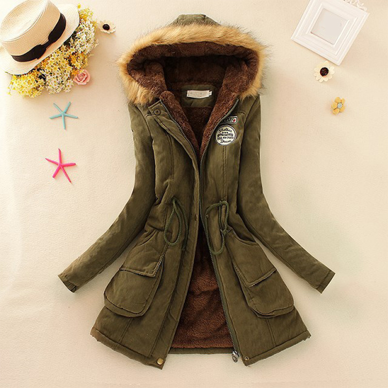 New Parkas Woman Winter Coat Thicken Cotton Jacket Women's Outwear Faux Fur Coats For Women 2019 Thick Overcoat Drop Shipping