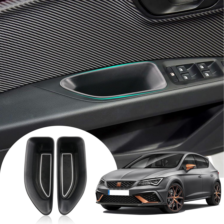 RUIYA Für Leon MK3 Typ 5F 2018 2019 Auto Tür Seite Lagerung Paletten Armlehne Container Box Lagerung Box Auto Innen zubehör