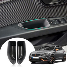 RUIYA dla Leon MK3 Typ 5F 2018 2019 drzwi samochodu boczne palety do przechowywania pojemnik do schowka w podłokietniku schowek akcesoria do wnętrz samochodowych