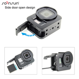 Image 2 - SOONSUN Aluminum Alloy Multi angle Shooting Cage Protective Frame Case Mount with 52mm UV Lens Filter for GoPro Hero 8 Black