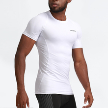 Men Compression Shirt workout Sport Running T-shirt Short Jogging Tshirt Men Fitness Gym Tee Tops Athletic Quick Dry jeansian men s sport tee shirt tshirt t shirt tops gym fitness running workout football short sleeve dry fit lsl131 gray