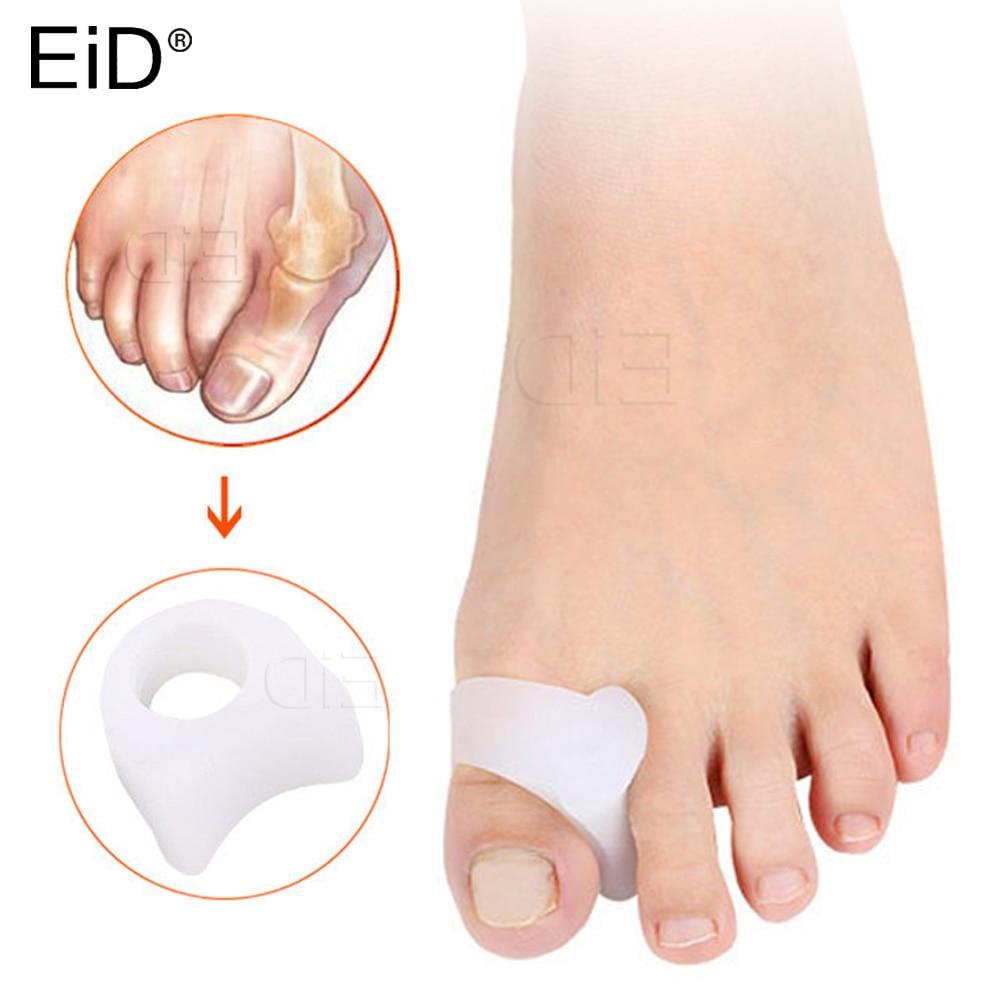 EiD 2 шт. силиконовый разделитель пальцев, Сращивание, Сращивание, вальгусная деформация, коррекция ортеза, перекрещивающийся расширитель, Защитные вставки для ног