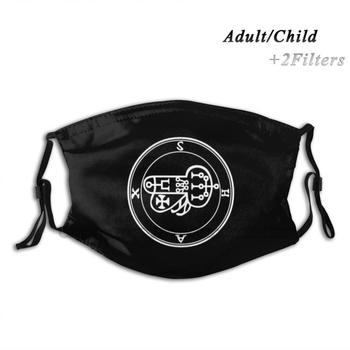 Shax Seal / Sigil Adult Kids Washable Funny Face Mask With Filter Occult Demon Goetia Sigil Seal Demonology Demonolarty Satan image