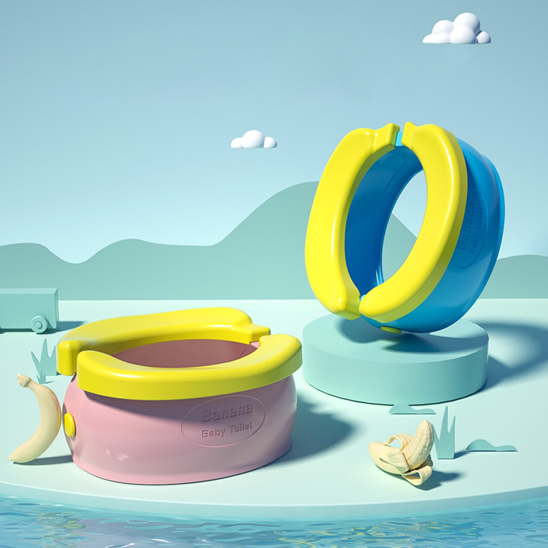New Hot Children's Toilet Potty Urinal Cartoon Banana Toilet Folding Baby Urinal For Dropshipping