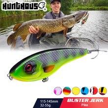 Hunthouse Jerkbait Musky Buster przynęta wędkarska na szczupaka 11.5/14.5cm 32/52g Jerk VIB przynęty powolne zanurzanie Big Bass Pesca westin