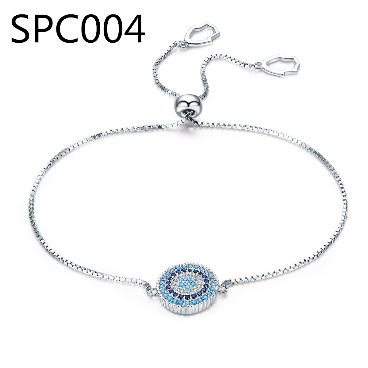 (With Box) SPC1 New Silver Metal Women Bracelet Vintage I love my cat person cat friend paw Charms Accessory DZ image