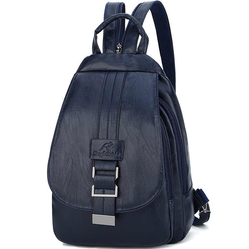 Women Leather Backpacks Vintage Female Shoulder Bag Sac A Dos Travel Ladies Bagpack Mochilas School Bags