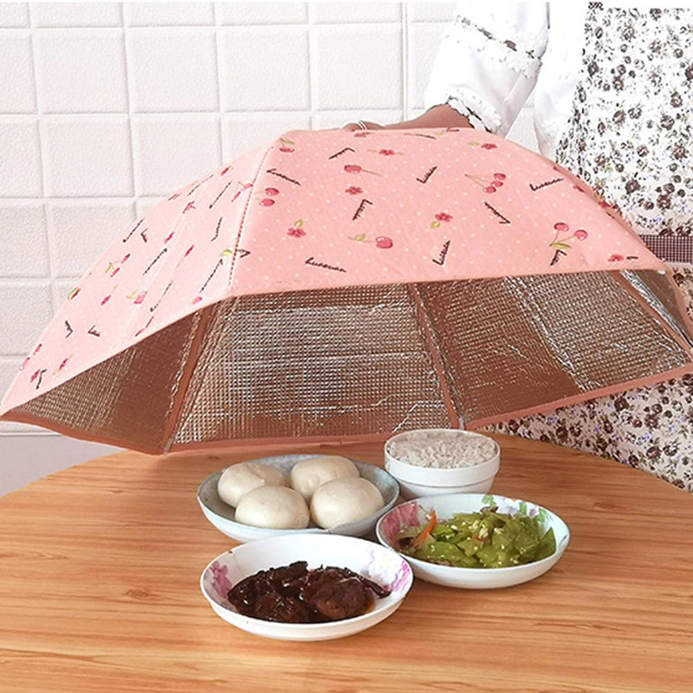 Kitchen Dust-proof Foldable Insulated Thermal Aluminum Foil Food Tent Cover