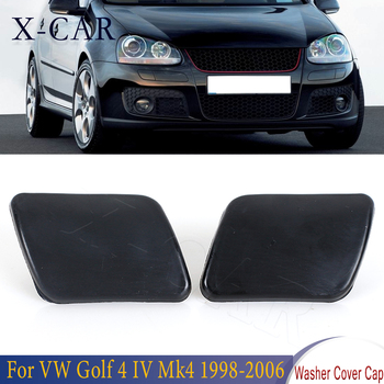 X-CAR 1 Pair Left/Right Side Front Bumper Headlight Washer Nozzle Cover Cap For VW Golf 4 IV Mk4 1998 1999 2000 2001 2002-2006 image