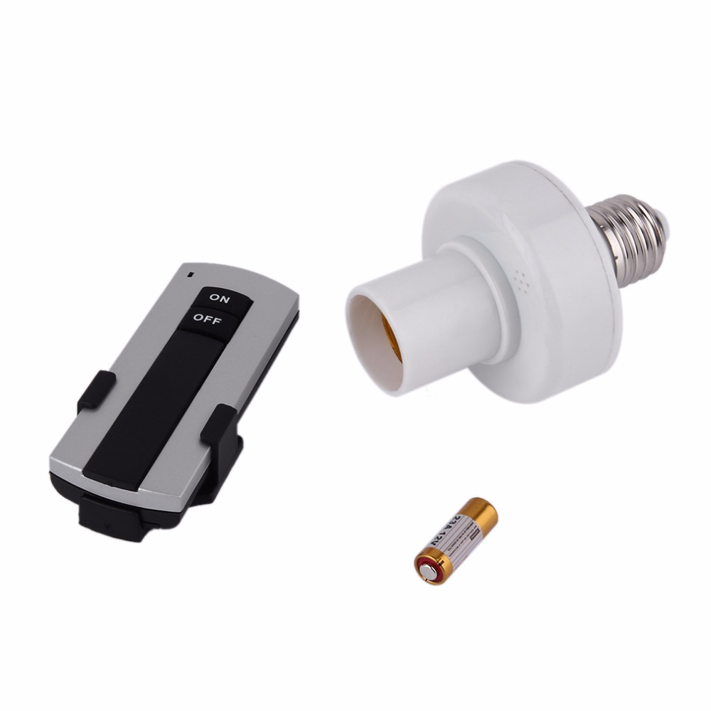 Professional E27 Screw Wireless Remote Control Light Lamp Bulb Holder Bases Cap Socket Switch Lamp Accessories On Off 220V
