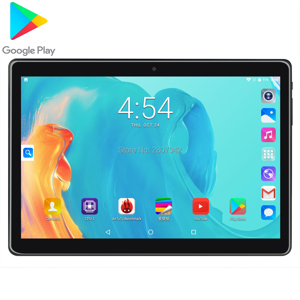 2020 New 10 Inch 3G 4G LTE Phone Call Quad Core  2G+96GB ROM Android Tablets PC 3000mAh 1280*800 IPS Dual Cameras Wifi A-GPS