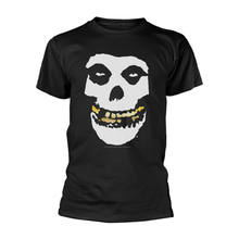 Misfits Gold Teeth Skull Face con 라이센스 Camiseta hombre(China)