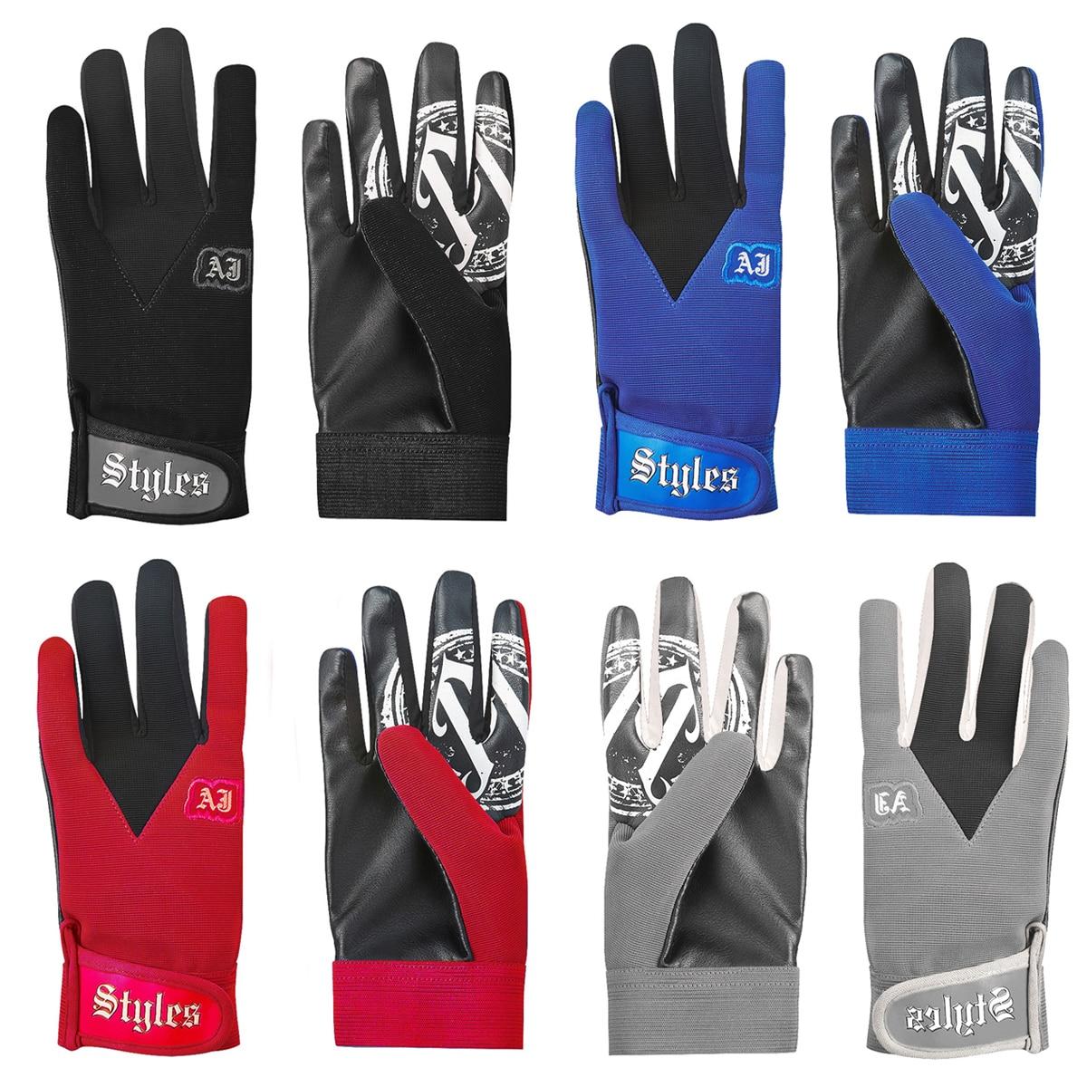 Roman & Reigns AJ Styles Blue / Black / Red / Gray New Blue Pro Wrestling Fight Gloves