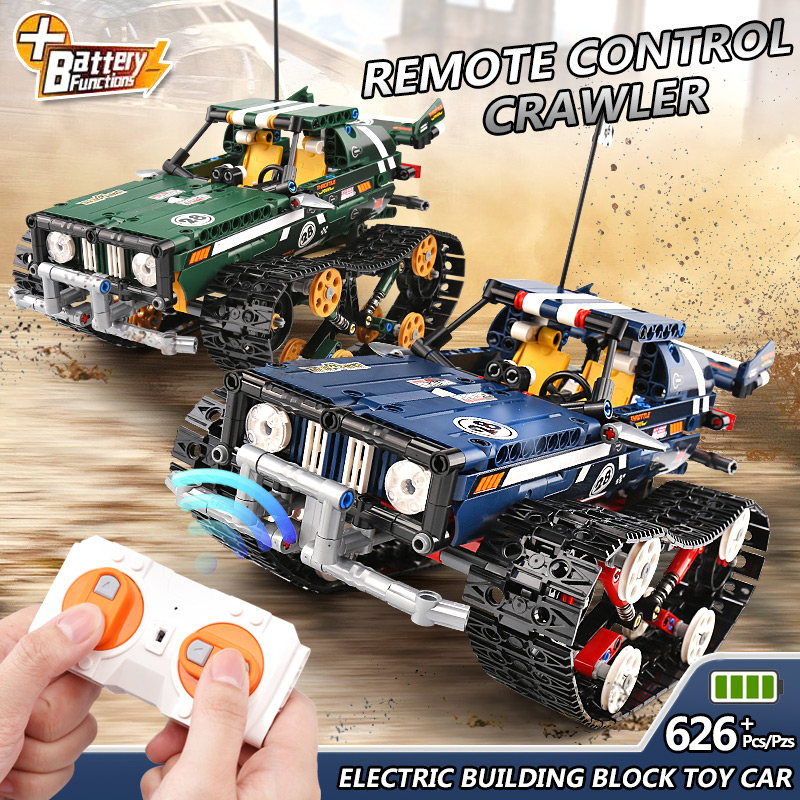 Technic Car Series 20011 RC Crawler Racing Car Remote Control RC Car Model Building Blocks Set Toy compatible with Lego Technic-in Blocks from Toys & Hobbies